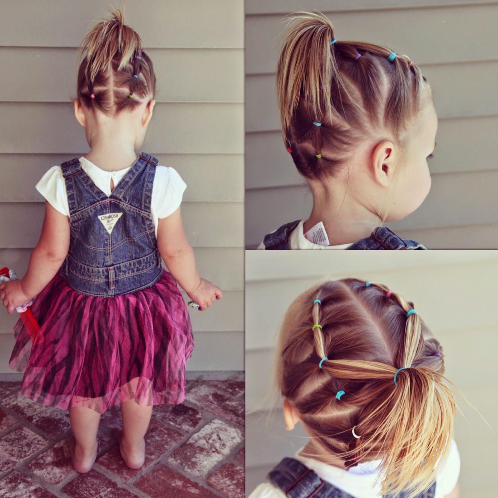 Причёска для девочки на короткие волосы своими руками в домашних условиях